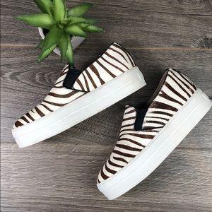 Sketchers Zebra Slip On Platform Loafer Sneaker